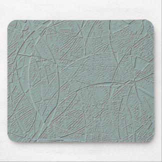 Pale green embossed effect geometric design mouse pad