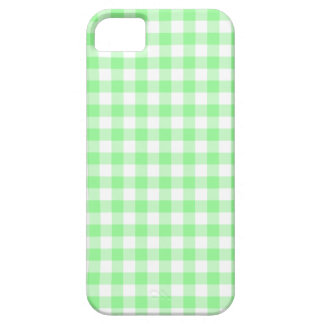Pale Green Gingham iPhone 5 Covers