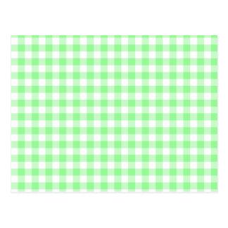 Pale Green Gingham Postcard