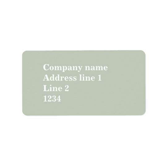 Pale green label