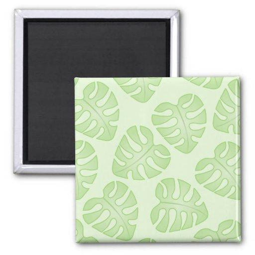 Pale Green Leaf Pattern. Magnet