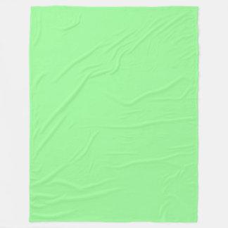 Pale Green (Light Green) Pastel Solid Colour Fleece Blanket