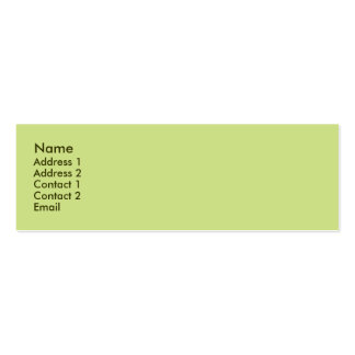 Pale green mini business card