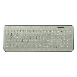 Pale Green Piled Rectangles Wireless Keyboard
