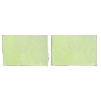Pale green water color pillowcase