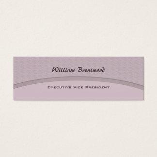 Pale Grey curve Mini Business Card