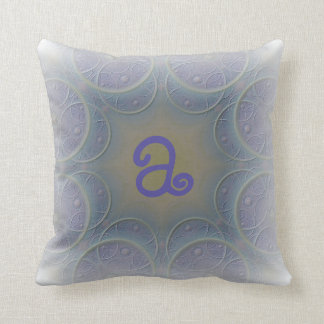 Pale Lavender Designed Monogram Throw Pillow