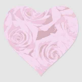 Pale Lavender-Pink Roses Stickers