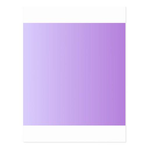Pale Lavender to Lavender Vertical Gradient Postcards