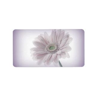Pale Lilac Sunflower Labels