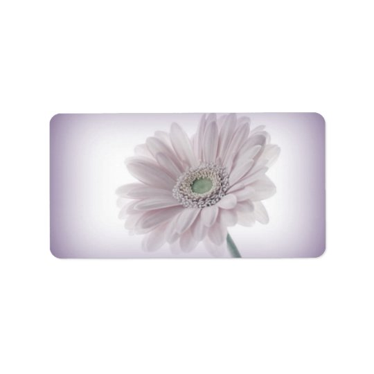 Pale Lilac Sunflower Labels