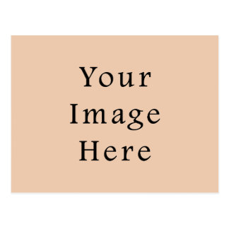 Pale Linen Beige Color Trend Blank Template Postcard