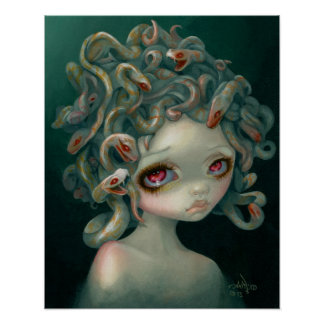 Pale Medusa ART PRINT pop surrealism big eye art