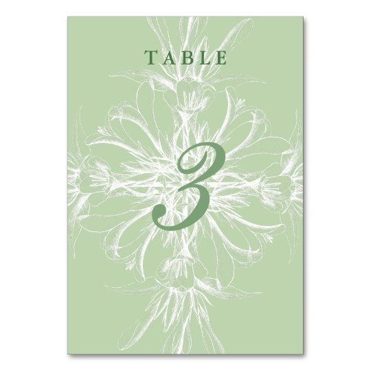 Pale Mint and White Floral Wedding Card