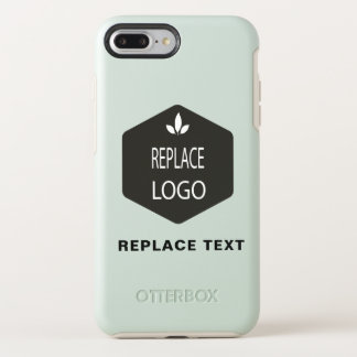 Pale or Black? Add Your Logo or Photo OtterBox Symmetry iPhone 8 Plus/7 Plus Case