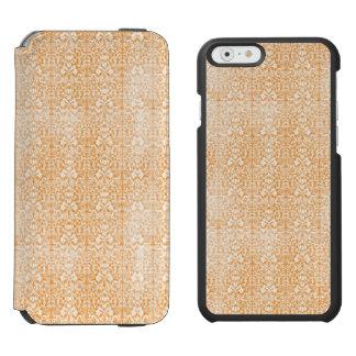 Pale Orange Damask Aged Pattern Incipio Watson™ iPhone 6 Wallet Case