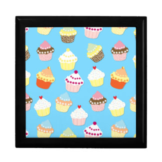 Pale Pastel Blue Cup Cakes Gift Box