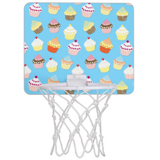 Pale Pastel Blue Cup Cakes Mini Basketball Hoop
