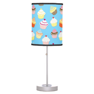 Pale Pastel Blue Cup Cakes Table Lamp