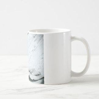 Pale Pastel Long Stem Rose on Deck Classic White Coffee Mug