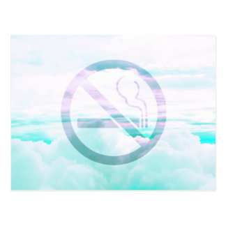 "Pale Pastel ""No Smoking"" Design Postcard"