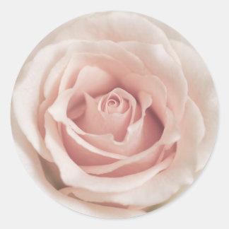 Pale Peach Antique Rose Background Customized Round Sticker