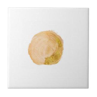 Pale Peach Gold Metallic Accent Tile