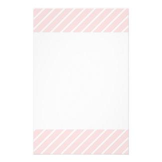Pale Peach Pink Diagonal Stripes. Full Color Flyer