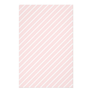 Pale Peach Pink Diagonal Stripes. Personalized Flyer