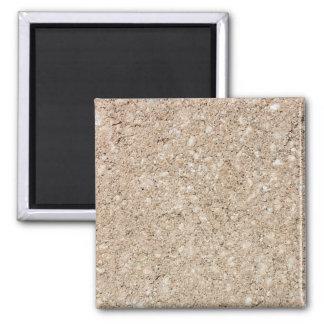 Pale Peachy Beige Cement Sidewalk Square Magnet