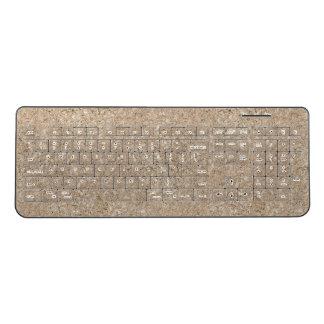 Pale Peachy Beige Cement Sidewalk Wireless Keyboard