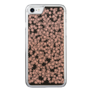 Pale Pink and Black Stars Kawaii Punk Carved iPhone 7 Case