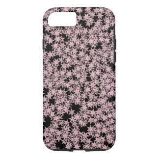 Pale Pink and Black Stars Kawaii Punk iPhone 7 Case