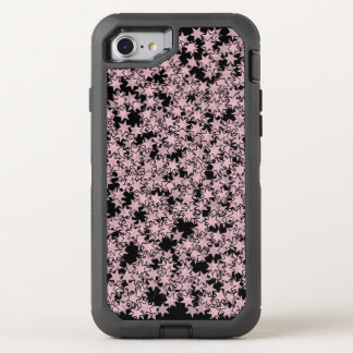 Pale Pink and Black Stars Kawaii Punk OtterBox Defender iPhone 7 Case