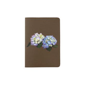 Pale Pink and Blue Hydrangea Passport Holder