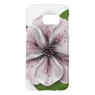 Pale Pink and White Flower Samsung Galaxy S7 Case