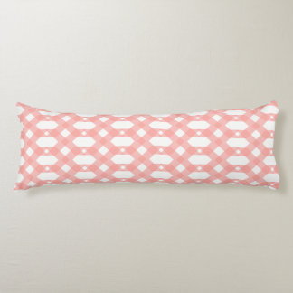 Pale pink and white honeycomb design body pillow