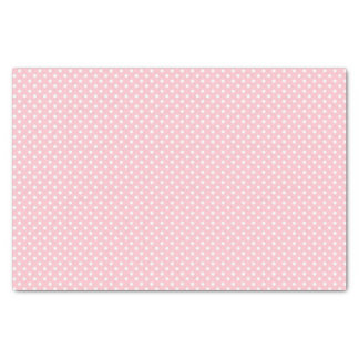Pale Pink and White Polka Dot Pattern Tissue Paper