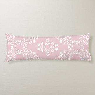 Pale Pink Blush Scroll Pattern Custom Body Pillow