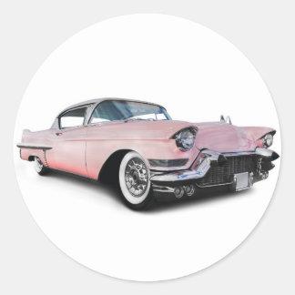 Pale Pink Cadillac Round Sticker