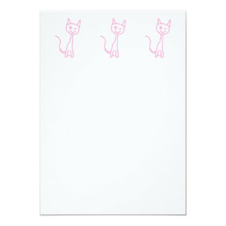 Pale Pink Cat, Winking. Invites