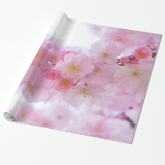 Pale Pink Cherry Blossoms Wrapping Paper