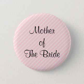 Pale Pink Diagonal Stripes Wedding 2 Inch Round Button