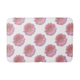 Pale pink gerbera daisy bath mat