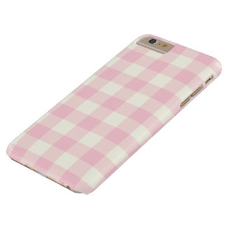 Pale Pink Gingham iPhone 6 Plus Case