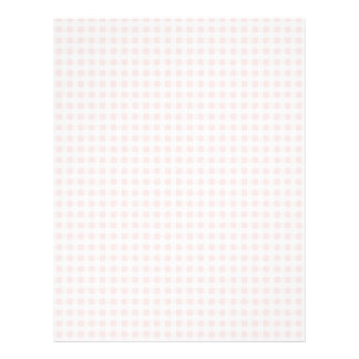 Pale Pink Gingham Personalized Letterhead