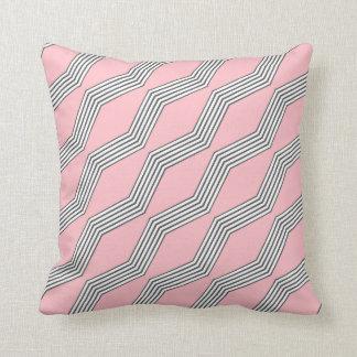 Pale Pink & Grey Chevron Throw Cushion