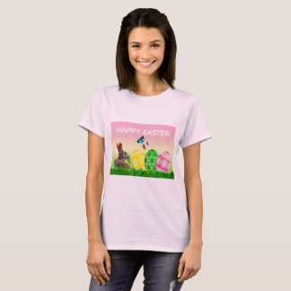 Pale Pink Happy Easter T-Shirt