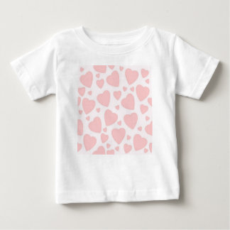 Pale Pink Hearts Baby T-Shirt