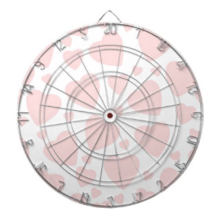 Pale Pink Hearts Dartboard